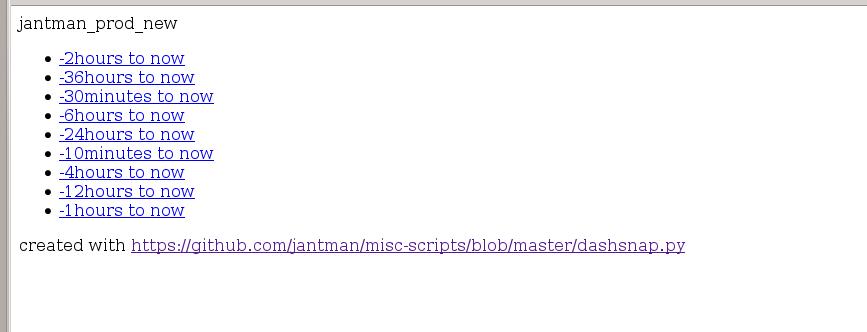 dashsnap py - A Script to Snapshot a Graphite Dashboard